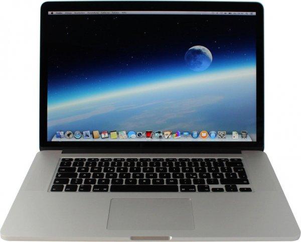 "Apple MacBook Pro 15.4"" Retina - Core i7-4770HQ, 16GB RAM, 256GB SSD, Iris Pro [Mid 2014], 1.599€ als Vorführer bei ebay/Notebookshop Darmstadt"