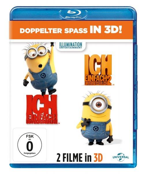 Ich - Einfach unverbesserlich 1 & 2 BluRay 3D für 18,89€