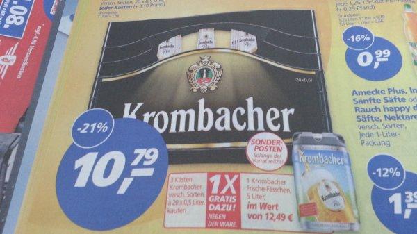 [Real]3 Kisten Krombacher kaufen ein 5 Liter Fass gratis