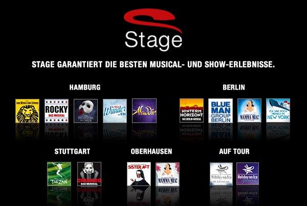 50€ Rabatt beim Kauf von 2 Tickets bei [beste-plaetze.de] STAGE-ENTERTAINMENT