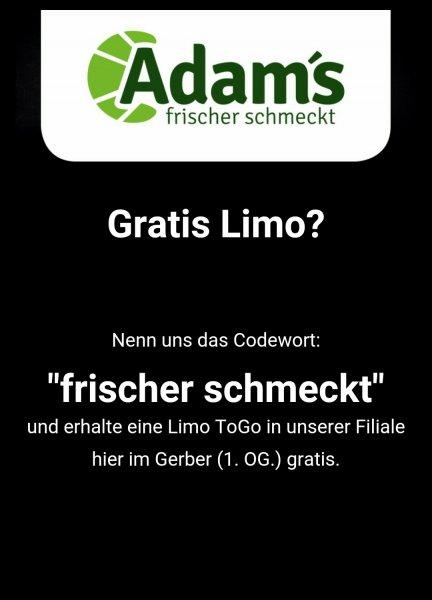 [Lokal Stuttgart] Gratis Limo im Gerber bei Adam's