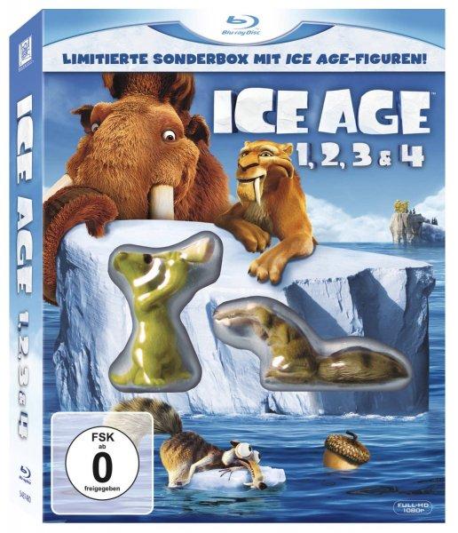 Ice Age 1-4 auf Blu-ray als limitierte Sonderbox, inklusive Ice Age Figuren, für 17,36 €, Amazon prime