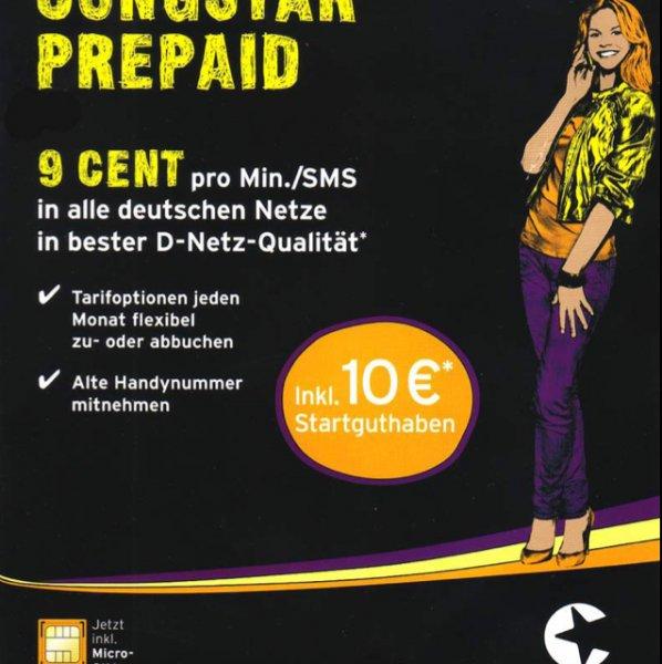 Congstar Prepaid - inkl. 10€ Startguthaben - PSN fähig