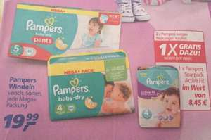 2 x Pampers Windeln Mega-Pack kaufen => 1 x Sparpack Active Fit gratis