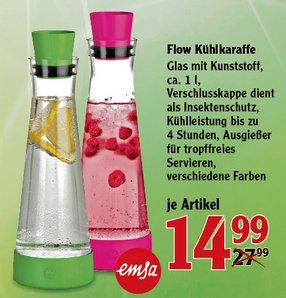 [GLOBUS] Emsa Flow Friends Slim Kühlkaraffe 1,0l für 14,99€ (Idealo:19,99€)