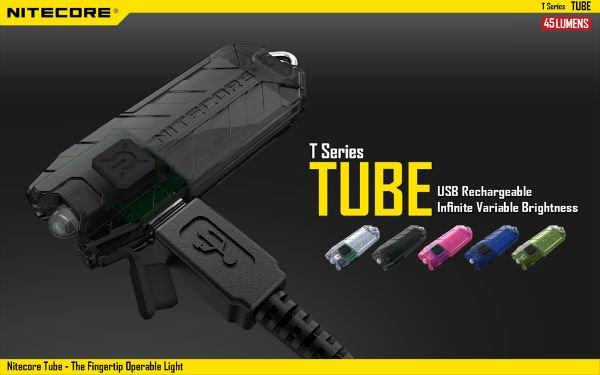 Nitecore Tube 45LM USB Rechargeable LED Light Keychain