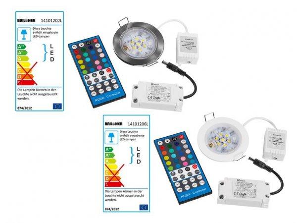[Lidl]: RGBW- LED -Einbaustrahler m. Fernbedienung und IP44 für 19,99 €