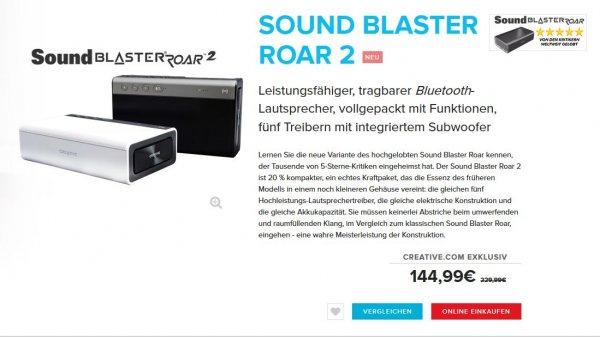 Creative Sound Blaster Roar 2 direkt vom Hersteller für 144,99€