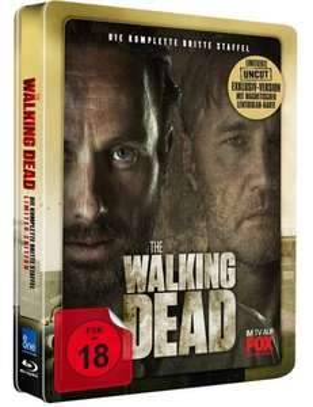 """The Walking Dead - Staffel 3, Steelbook mit """"Uncut""""-Version auf 5 Blu-ray´s + magnetischer 3D-Lentikularkarte, inkl. Versand für 19,99 €, @Saturn"""