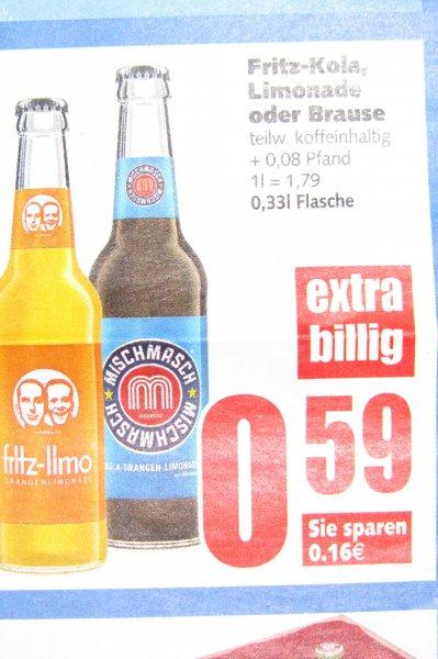 [Edeka E Center Garbsen ]  Fritz Kola, Limonaden oder Brause für 0,59  € (0,33l)