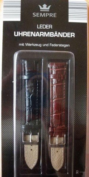 Lokal Woolworth Berlin Wilmersdorferstr.113-114,  2 Uhrenarmbänder Leder für 2,99