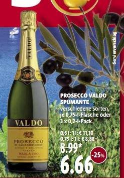 [Kaisers] Prosecco VALDO Spumante 25% günstiger