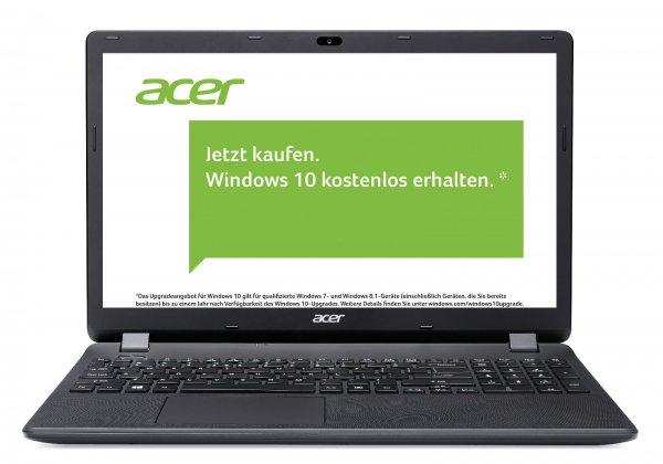 Acer Aspire ES1-512-P29F für 279€ @eBay (Cyberport) - 15 Zoll Notebook mit Intel N3540, 4GB RAM, 1TB HDD und mattem Display