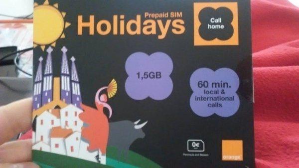 [Orange Spanien] Prepaid Karte 1,5 GB LTE und 60 Min nach Deutschland