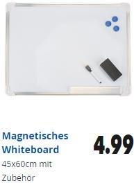 [Action lokal] Whiteboard 60x45cm mit Zubehör 4,99€