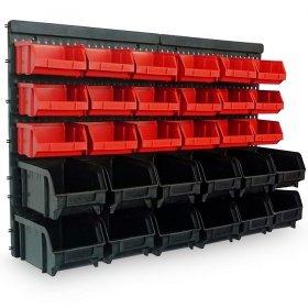 [Wieder da, jetzt noch günstiger] Wandregal mit Stapelboxen 32 teilig von DEUBA