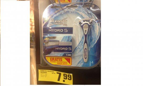 Wilkinson Hydro 5 für 1,60 €/Klinge und gratis Rasierer bei REWE