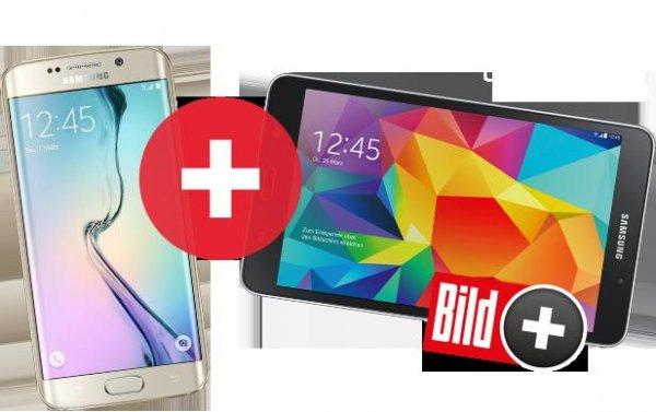 Galaxy S6 oder S6 Edge kaufen -> Galaxy Tab 4 + 1 Jahr Bildplus digital gratis dazu bekommen