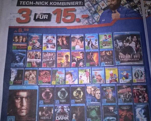 [Saturn Darmstadt und Weiterstadt] 3 Blu-Rays für 15,- Euro