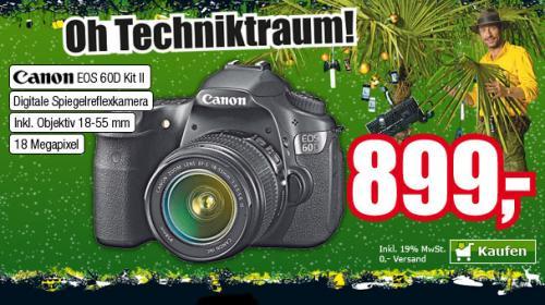 Canon EOS 60D Kit II (18-55mm Objektiv) bei ProMarkt für 899,00 (mit Geschenkkarten effektiv 719,20 EUR)