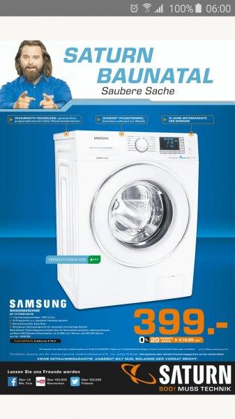 [Lokal Saturn Baunatal] Waschmaschine Samsung WF 72 F5P5E4W für 399€