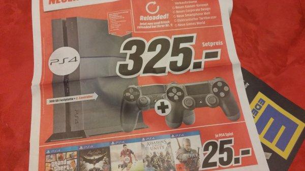 Playstation 4 mit zwei Controller @MM Trier