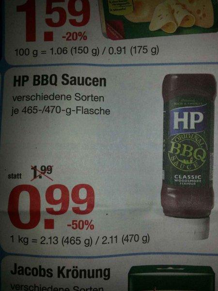 [lokal? V-Markt Lauingen Donau] HP BBQ Saucen versch. Sorten 465g/470g  0,99€