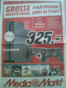 [Lokal MM Trier] GTA V, Batman Arkham Knight, Fifa 15, AC: Unity, The Witcher je 25€, PS4 +2 Control. 325€