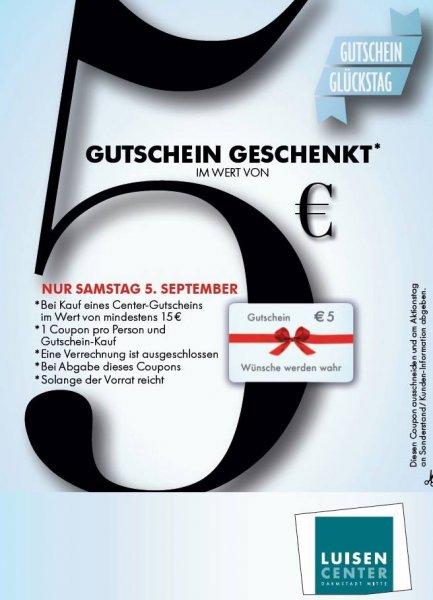 [Luisencenter DA] 20€ Center-Gutschein für 15€ am 05.09.15