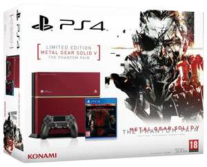 [Amazon.fr] PlayStation 4 (neue Revision) inkl. Metal Gear Solid V - The Phantom Pain - Limited Edition für 410,19€