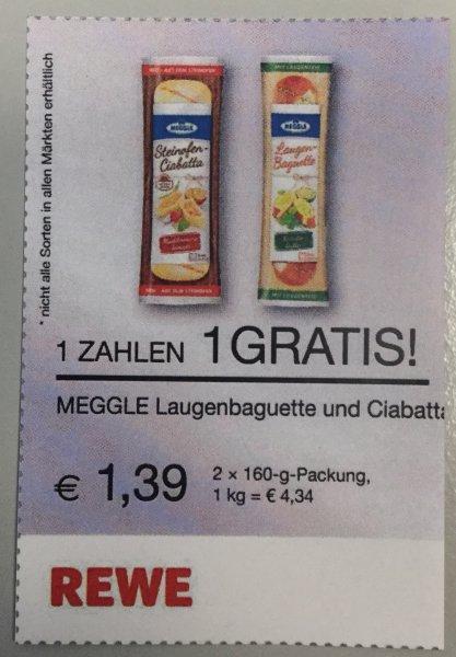 [ REWE HH ] evtl. Bundesweit 20.8-22.8 Meggle Ciabatta zum Superpreis