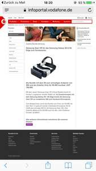 [vodafone ] Samsung Gear VR 99,90€