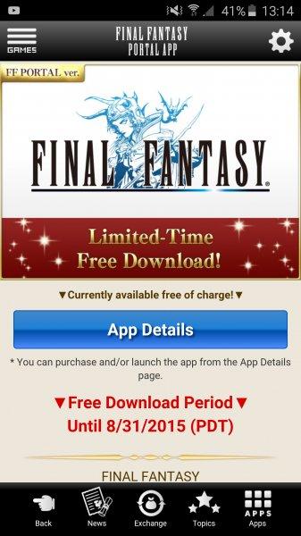 [Android&iOS] Final Fantasy 1 GRATIS durch neue FF Portal App