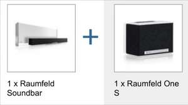Raumfeld (Bundle mit Soundbar und One S)