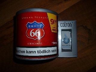 Route 66 Tabakdose und Feuerzeug gratis erhalten mit ein wenig Aufwand.