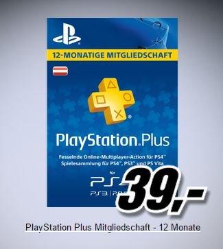 Mediamarkt AT / Sony PlayStation Plus 365-Tage-Abonnement