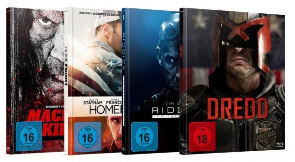[Media Dealer] Universum - Limited Collectors Editionen / Riddick - Homefront - Machete Kills - Dredd (Blu-ray) für 33,74€ inc. Versand