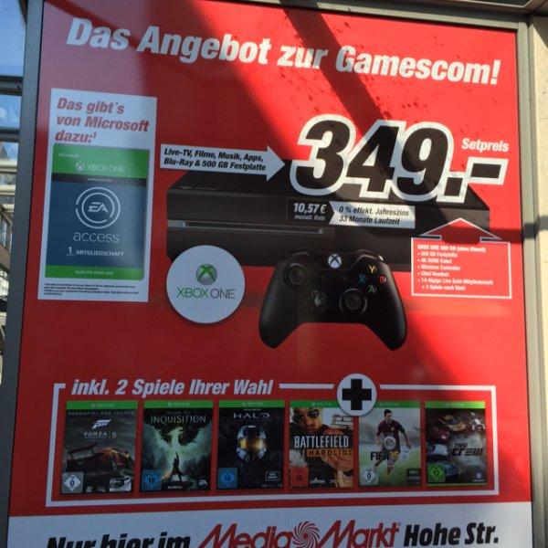 Xboxone 500GB mit 2 Spiele nur 349€ @Köln Mediamarkt