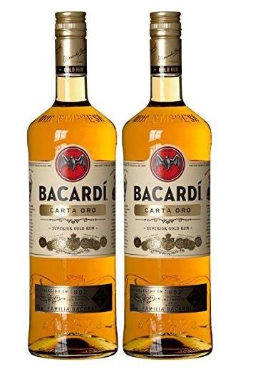 [Amazon] BACARDI Carta Oro 2x 1 Liter Ersparnis knapp 13 Euro !
