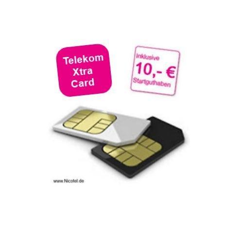 Telekom Xtra Card mit 10,00 € Startguthaben für 1€
