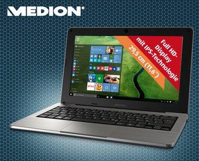 Medion S2218 11,6 Zoll Notebook mit IPS FHD-Display ab 03.09. Aldi-Süd