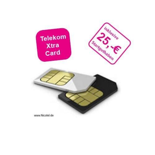 Telekom Xtra Card im XTRA mit 25,00 € Startguthaben für 9,99 €