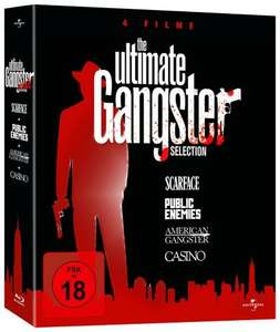 [MediaDealer Tagesangebot] The Ultimate Gangster Selection (Blu-ray) - Public Enemies / American Gangster / Scarface / Casino für 11,96 inc. Versand