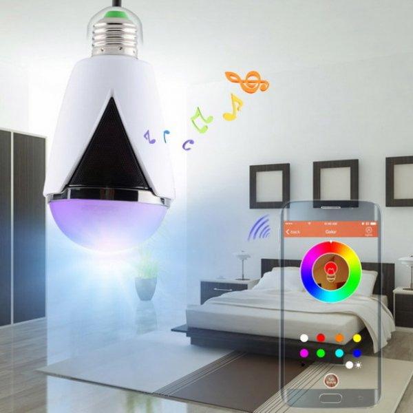 LightsCastle H-1007 iOS Android App-gesteuertes Farb-LED Lampe mit Bluetooth V4.0 Lautsprecher - weiss = allbuy