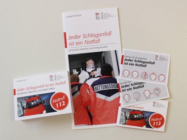 """gratis  INFO-SET """"NOTFALL"""" von  der Stiftung Deutsche Schlaganfall Hilfe"""
