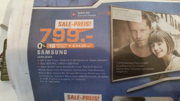 (Lokal?) Saturn Göttingen - Samsung UE55J6350 Curved TV für 799€