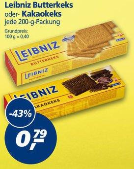 [REAL] Leibniz Butterkeks oder Kakaokeks 43% billiger, 200g für 0,79 Euro, vom 24.-29.08.2015