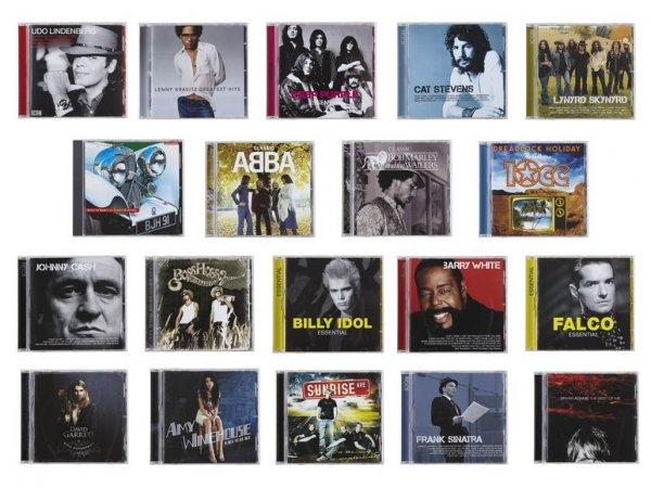 Lidl bundesweit, ab 24. 8. 15, Musik-CDs weltbekannter Interpreten, je 2,99 €