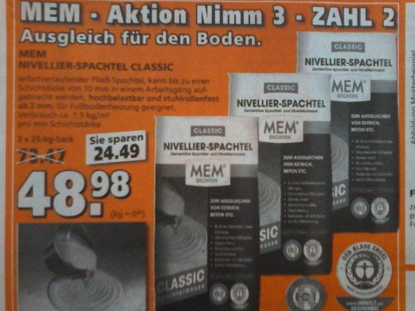 MEM Nivellier-Spachtel 3x25kg für 48,98€  bei Globus Baumarkt