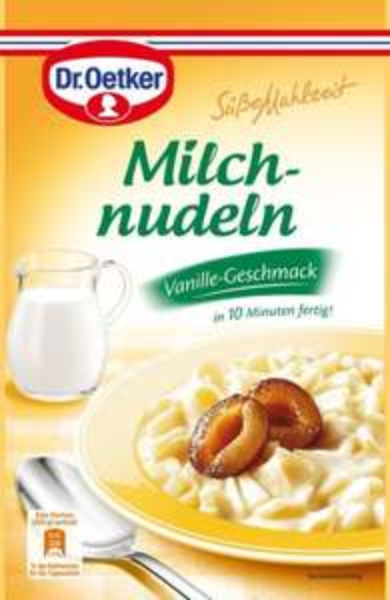 [Amazon.de Plus] Dr. Oetker Süße Mahlzeit Milchnudeln Vanille, 8er Pack (8 x 116 g)